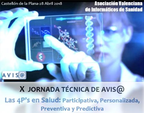 """X Jornada Técnica """"Las 4Ps en salud: Participativa, Personalizada, Preventiva y Predictiva"""""""